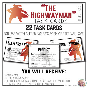 "Task Cards - ""The Highwayman"""