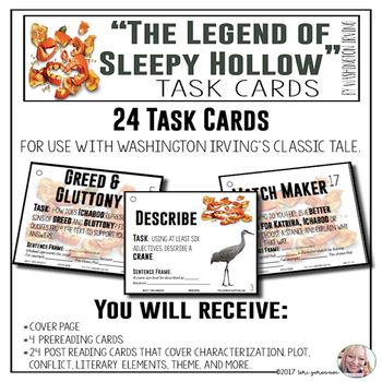 """Task Cards - """"The Legend of Sleepy Hollow"""""""
