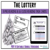 """Task Cards - """"The Lottery"""" by Shirley Jackson"""