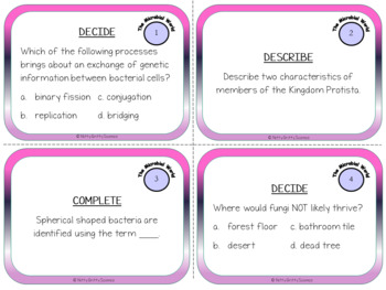 The Microbial World - Life Science Task Cards