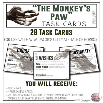 "Task Cards - ""The Monkey's Paw"""