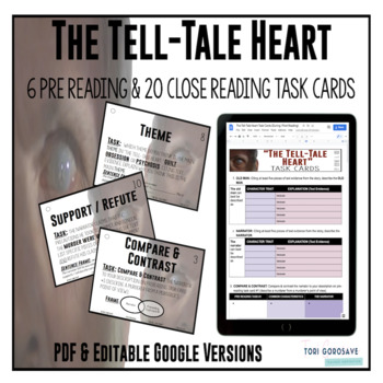 """Task Cards - """"The Tell-Tale Heart"""""""