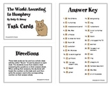The World According to Humphrey Task Cards By Betty G. Birney