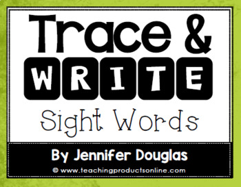 Sight Words Trace and Write Task Cards