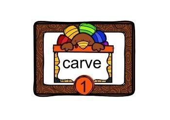 Task Cards Turkey Vocabulary