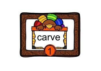 Task Cards Turkey Vocabulary