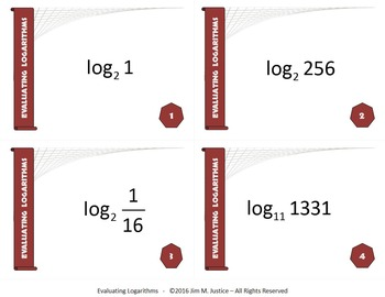 Task Cards ULTRA - Evaluating Logarithms