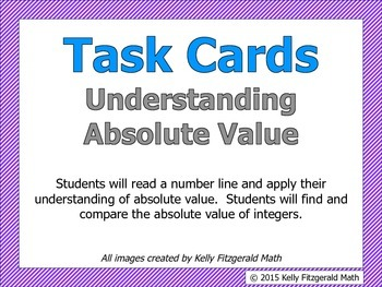 Task Cards - Understanding Absolute Value