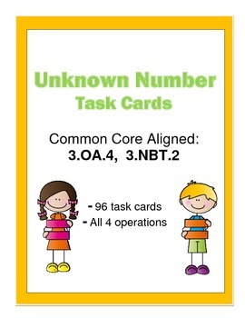 Task Cards - Unknown Numbers