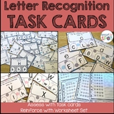Task Cards: Upper and Lower Case Letters and Worksheets