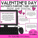 Task Cards: Valentine's Day Author's Purpose