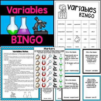 Variables Task Cards Review