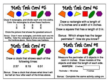Task Cards - Various Math Skills