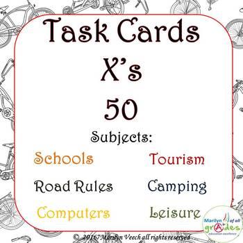 Task Cards - Various Topics - Set 2