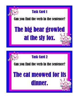 Verbs - Task Cards