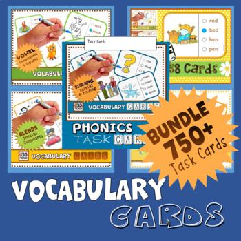 Phonics Multiple Choice Task Cards 600+ Cards (MEGA BUNDLE)