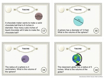 8th Grade Math Volume Task Cards with or without QR Codes