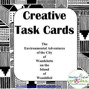 Creative Task Cards - The Adventures of the City of Wandelotte.
