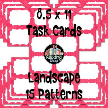 Task Cards - Watermelon Red Patterns - Portrait and Landscape Orientation