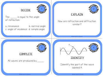 Waves and Electromagnetic Spectrum: Physical Science Task Cards
