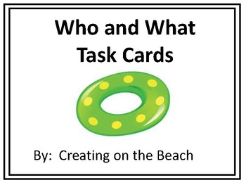 Task Cards Who and What