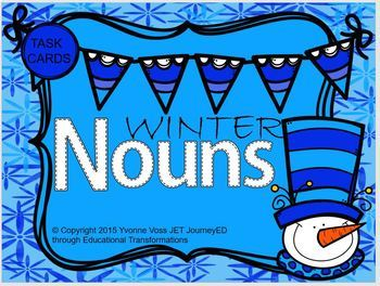 Task Cards Winter Nouns