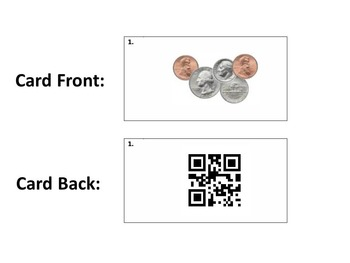 Task Cards With QR Codes - Counting Coins Up To $1.00