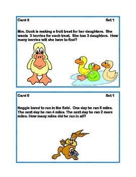 Task Cards Word Problems Grade 1 Common Core Spring Theme