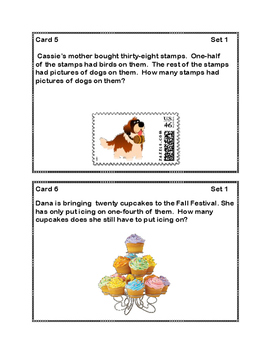 Word Problems -Two-Steps  Grades 2 -3-Task Cards