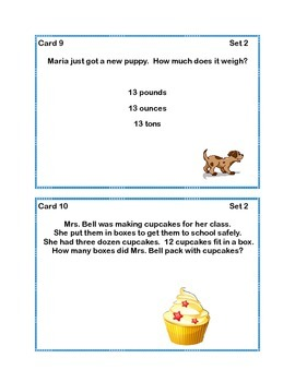 Task Cards Word Problems Grade 2 Common Core