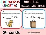 CVC Words Sentence Writing (set 1)