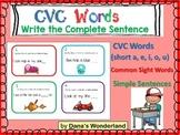 CVC Words Sentence Writing (set 2)