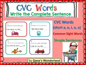 CVC Words Practice Center (set 2)