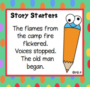 Task Cards - Writer's Journal - 72 ideas for story writing - 'Theme Stories'