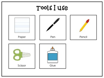 Task Cards - Writing, Cutting, & Gluing