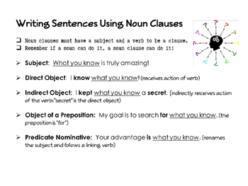 Adjective Adverb and Noun Clauses Worksheet with Answers – careless.me