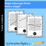 Task Cards: Slope-Intercept Form From a Graph