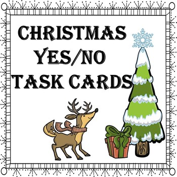 Task Cards Yes/No Christmas Special Education