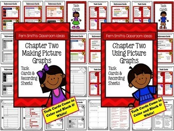 3rd Grade Go Math Chapter Two Represent and Interpret Data Task Card Bundle