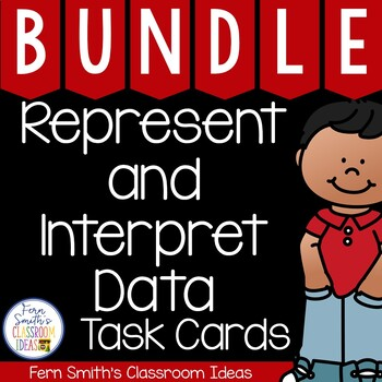 3rd Grade Go Math Chapter 2 Represent and Interpret Data Task Card Bundle