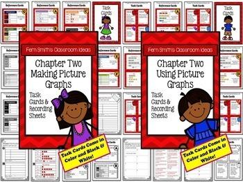 3rd Grade Go Math Chapter 2 Represent and Interpret Data Task Cards Bundle