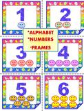 Task Cards - Editable Labels - Alphabet - Numbers - Frames