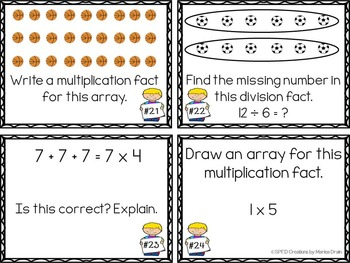 Arrays, Repeated Addition, and Visual Division: Task Cards and PP Show
