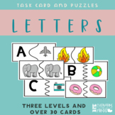 Task Cards and Puzzles For Special Education- Letters