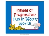 Task Cards and Sorting Simple and Progressive Verbs in Wacky World