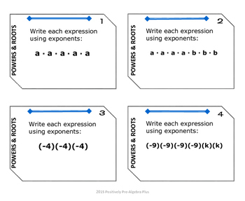 Task Cards and Walk-About Sampler Freebie for Middle School Math