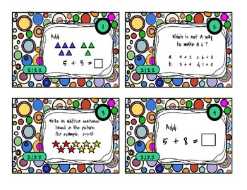 Adding & Subtracting - Task Cards Math - MN Standard 2.1.2.2