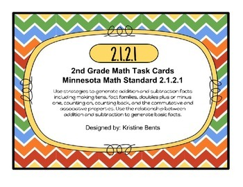 Addition & Subtraction - Task Cards Math, MN Standard 2.1.2.1