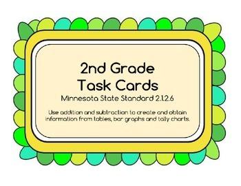 Tables, Bar Graphs & Tally Charts - Task Cards Math, MN st