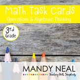 3rd Grade Math Task Cards for Operations and Algebraic Thinking